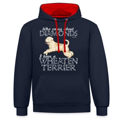 Wheaten Terrier Diamonds 4 - Contrast Colour Hoodie