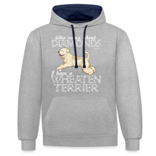 Wheaten Terrier Diamonds 4 - Contrast Colour Hoodie