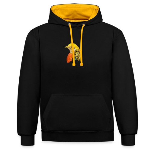 Yellow bird Amazon - Sudadera con capucha en contraste