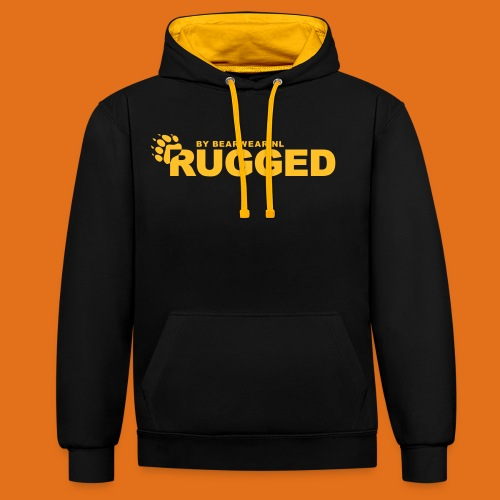 rugged - Contrast Colour Hoodie