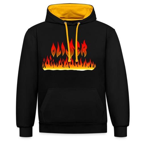 Oliser-Flames - Felpa con cappuccio bicromatica