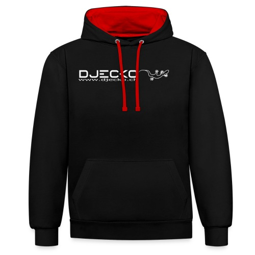 Djecko blanc - Sweat-shirt contraste