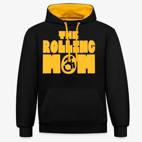 Rollende moeder in een rolstoel - Contrast hoodie
