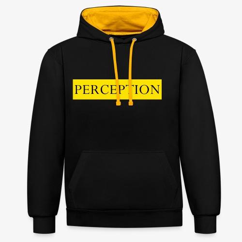 PERCEPTION CLOTHES JAUNE - Sweat-shirt contraste