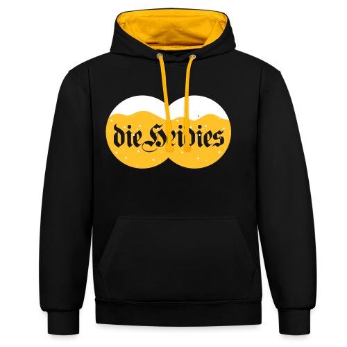 dieheidies - Contrast hoodie