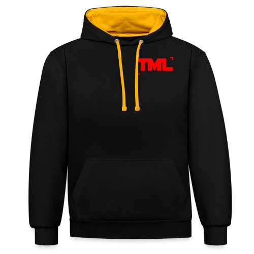 TML RED - Contrast Colour Hoodie