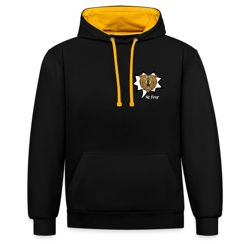 Bear Roar Logo - Contrast Colour Hoodie