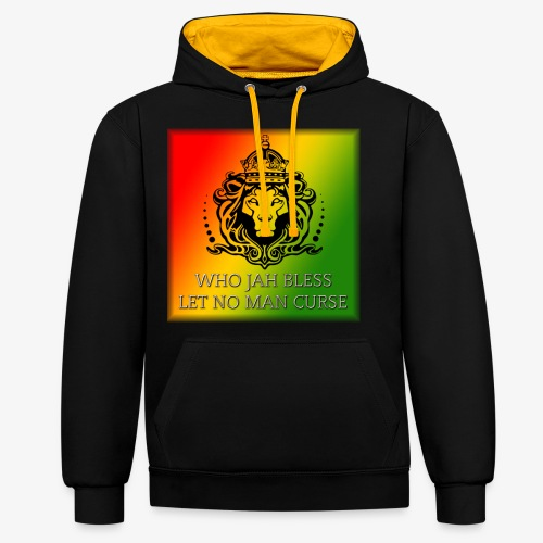 WHO JAH BLESS DESIGN - Contrast Colour Hoodie