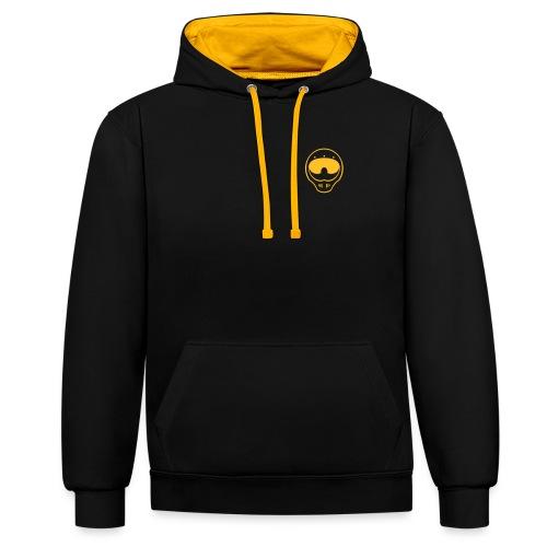 Giangio #YellowGoesFaster - Felpa con cappuccio bicromatica
