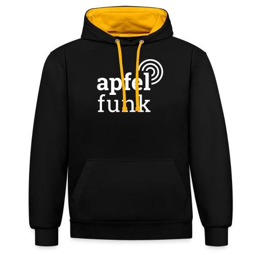 Apfelfunk Dark Edition - Kontrast-Hoodie