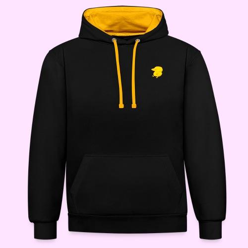 Golden Pinkguin - Kontrast-hættetrøje
