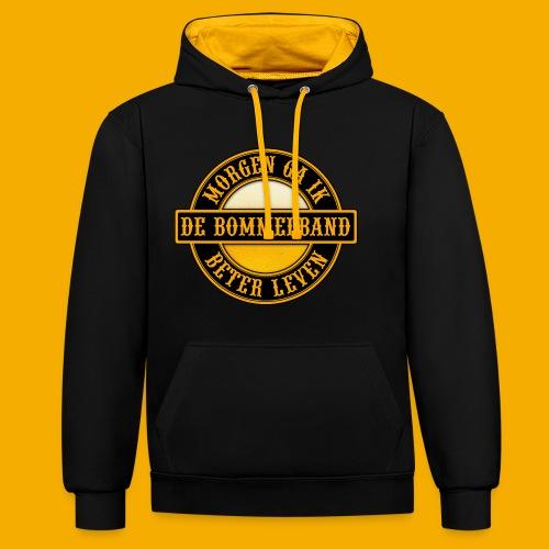 Logo Zwart Geel 2 - Contrast hoodie