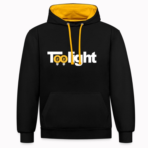 toolight on - Felpa con cappuccio bicromatica