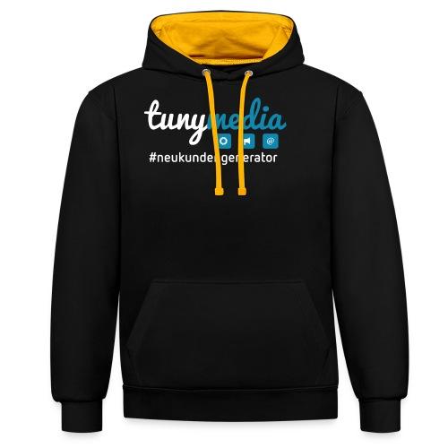 Tunymedia Brand - Kontrast-Hoodie