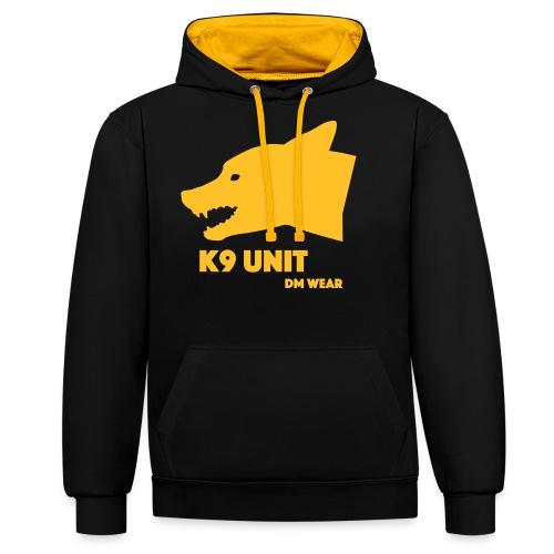 dm wear K9 unit yellow - Contrast Colour Hoodie