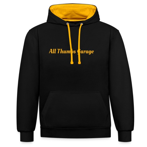 ATG text - Contrast Colour Hoodie