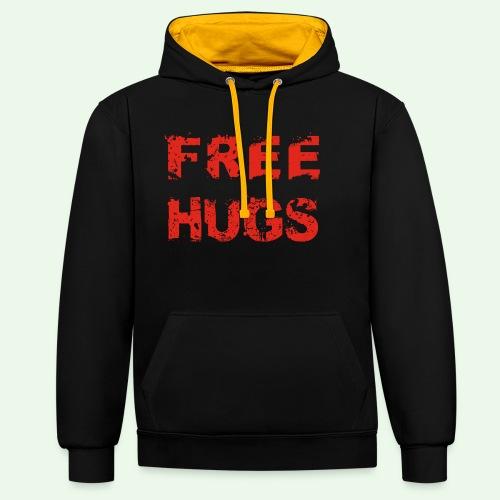 Free Hugs // Flirten // T-Shirt - Kontrast-Hoodie