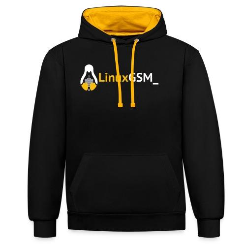 LinuxGSM - Contrast Colour Hoodie