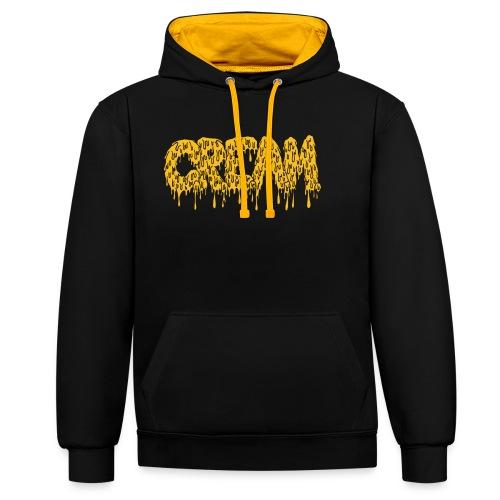 CREAM - Kontrast-Hoodie