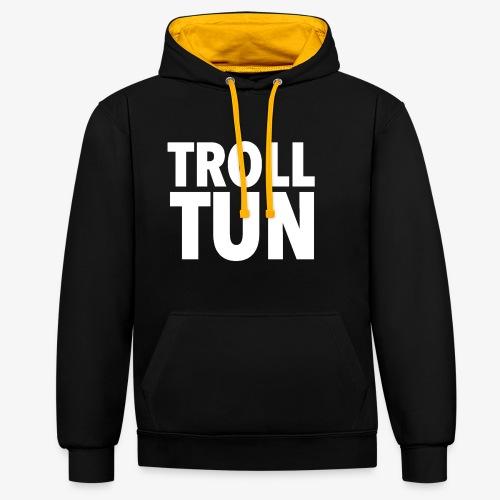 Trolltun logo - Kontrast-hettegenser
