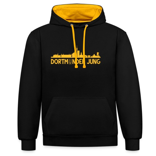 Dortmunder Jung Skyline - Kontrast-Hoodie
