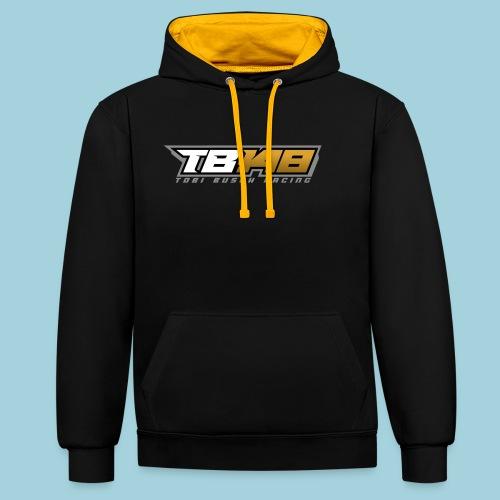 Tobi Logo Grau - Kontrast-Hoodie