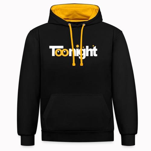 toonight - Felpa con cappuccio bicromatica