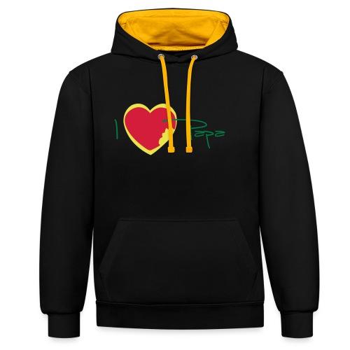 I love papa rastafari - Sweat-shirt contraste
