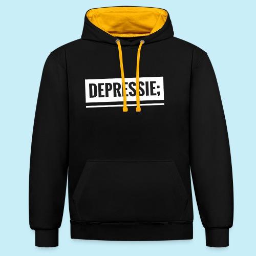 Depressie; - Sweat-shirt contraste