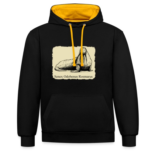 The Old Walrus - Contrast Colour Hoodie