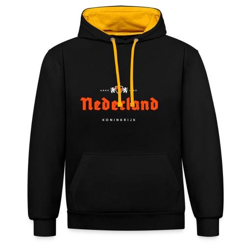 Nederland beerlabel - Sweat-shirt contraste