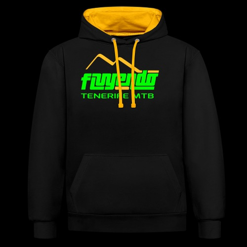 fluyendo logo TNF MTB - Contrast Colour Hoodie