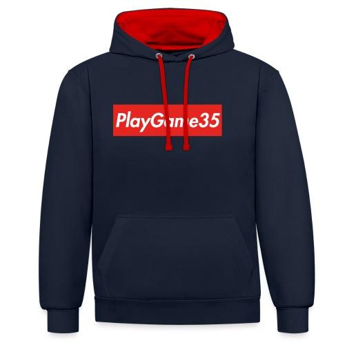 PlayGame35 - Felpa con cappuccio bicromatica