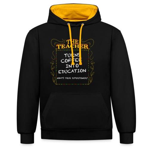 The Teacher - Contrast Colour Hoodie
