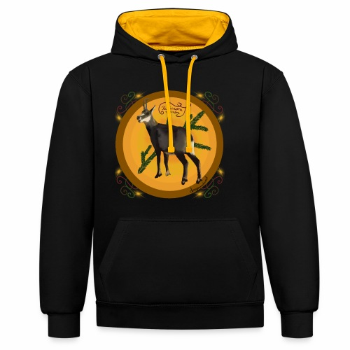 The chamois - Contrast Colour Hoodie