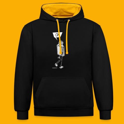 Dat Robot: Nerd Flirt Men - Contrast hoodie