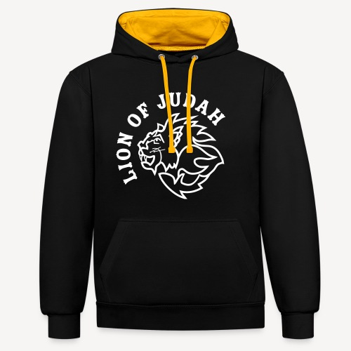LION OF JUDAH - Contrast Colour Hoodie