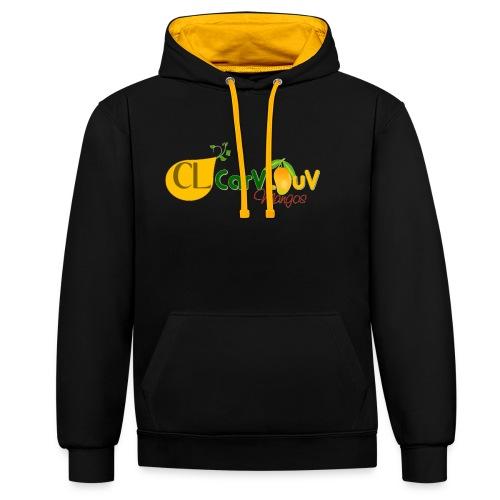 CarVlouV - Sudadera con capucha en contraste