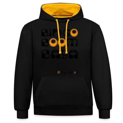 Bingoboombaya - Kontrast-Hoodie