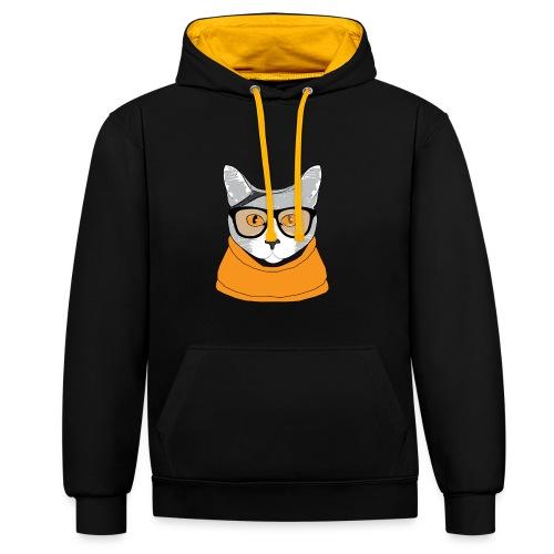 Cat - Sweat-shirt contraste