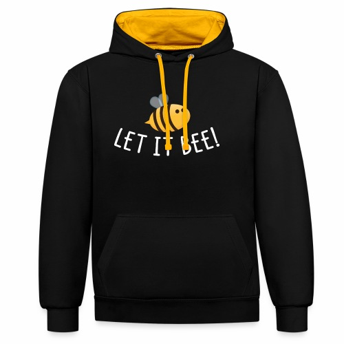 Let it Bee - Kontrast-Hoodie