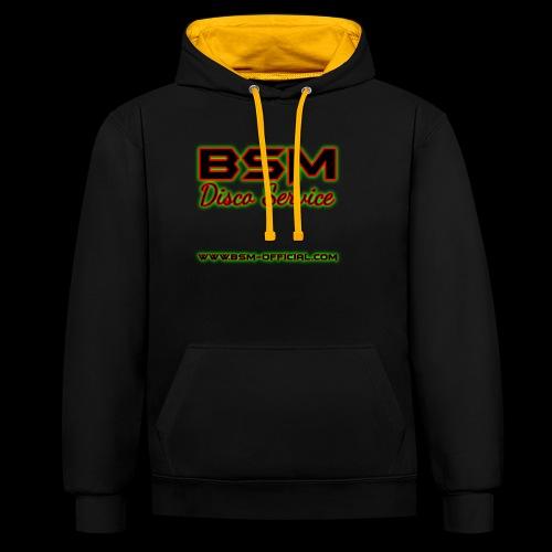 BSM Disco Service Logo - Contrast Colour Hoodie