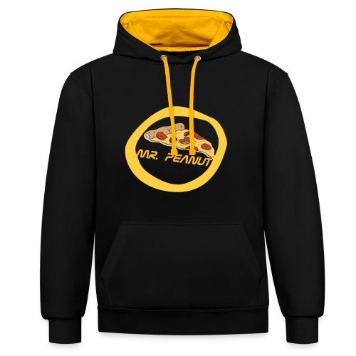 mr. peanut logo - Kontrast-Hoodie
