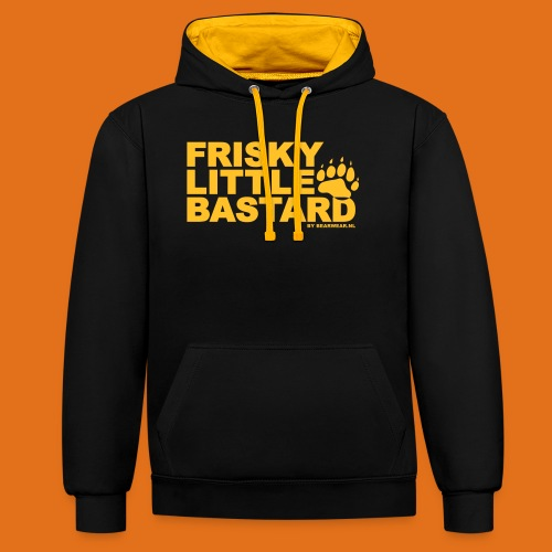 frisky little bastard new - Contrast Colour Hoodie