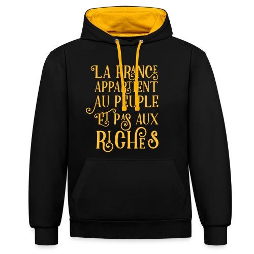 La france appartient au peuple et pas aux riches - Sweat-shirt contraste