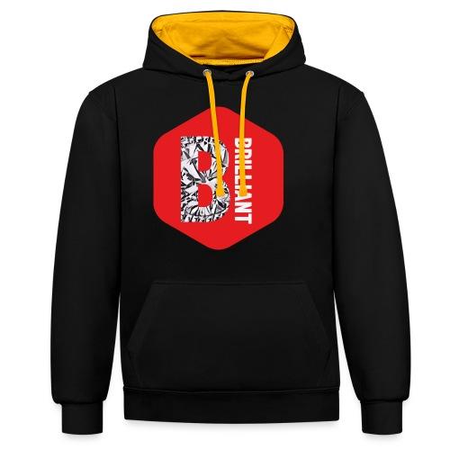 B brilliant red - Contrast hoodie