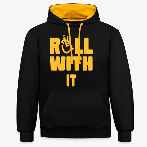 > Ik rol met mijn rolstoel - Contrast hoodie