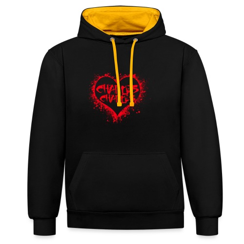 CHARLES CHARLES VALENTINES PRINT - LIMITED EDITION - Contrast Colour Hoodie
