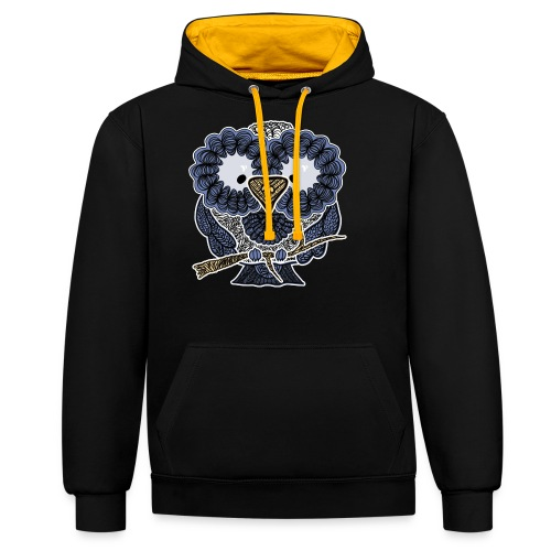An owl - Contrast Colour Hoodie