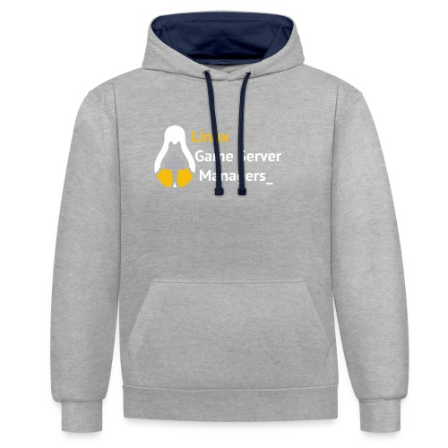 Linux Game Server Managers - Contrast Colour Hoodie
